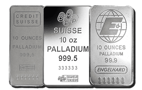 Various palladium bars that are eligible for investments with self-directed IRAs