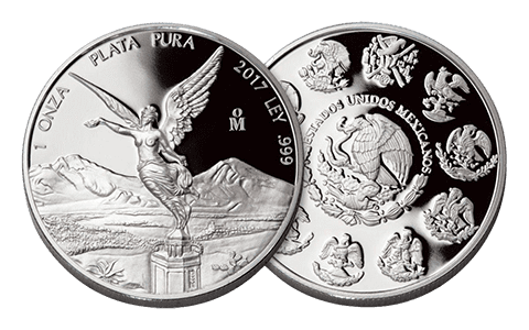 A picture showing both sides of a 1 oz Mexican libertad silver coin, one of the silver products eligible Self-Directed IRA precious metals investments