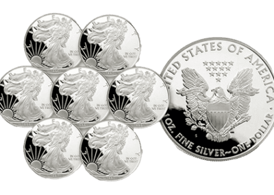 Proof american eagle silver coins