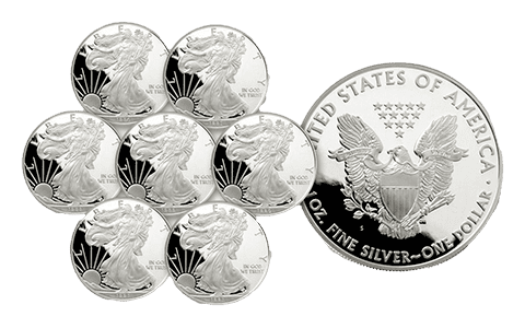 This is an example of a Proof American Eagle Silver Coins, which is eligible for self-directed IRA investments
